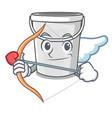 cupid plastic tube bucket isolated character vector image