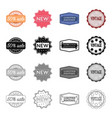 different types of labels novelty vintage vector image vector image