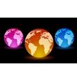 Digital Light Balls vector image vector image