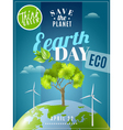 Earth Day Ecology Awareness Poster vector image vector image