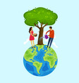 earth day people care about nature save the vector image