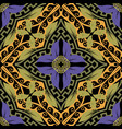 elegance beautiful floral greek seamless pattern vector image