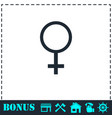 female icon flat vector image
