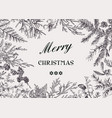 frame with conifers black vector image vector image