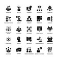 glyph icon set project management vector image