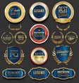 golden luxury badges retro design collection vector image vector image