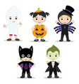 halloween kids vector image