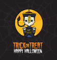 Halloween Trick or Treat Chinese Zombie Costume vector image vector image