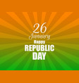 happy republic day of india gradient with color vector image vector image