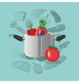 healthy food icons image vector image vector image