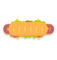 hot dog sandwich icon vector image