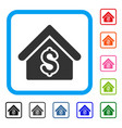 house rent framed icon vector image