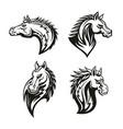 icon heraldic royal horse head vector image