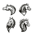 icon of heraldic royal horse head vector image