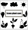 Icons in eco or natural style vector image