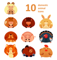 Icons with animals vector image vector image