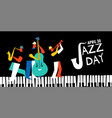international jazz day poster live music band vector image vector image