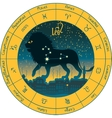 leo with the signs of the zodiac vector image vector image