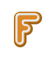 letter f gingerbread peppermint honey-cake font vector image vector image