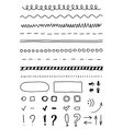 marker elements hand drawing vector image vector image
