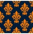 Medieval floral seamless pattern with fleur-de-lis vector image vector image