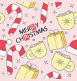 merry christmas cartoon funny doodle seamless vector image vector image