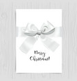 merry christmas white card vector image vector image