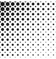 monochrome abstract repeating halftone circle vector image vector image