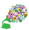 music flowers vector image