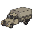 Old military truck vector image vector image