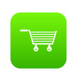 online shopping icon digital green vector image vector image