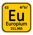 Periodic table element europium icon vector image vector image
