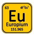 Periodic table element europium icon