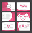 Pink presentation templates Infographic elements vector image vector image