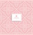pink vintage ornamental seamless pattern vector image vector image