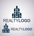 realty logo 9 2 vector image vector image