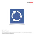 reload icon - blue photo frame vector image