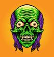 scary skull zombie mascot vector image vector image