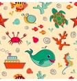 Sea life seamless pattern vector image vector image