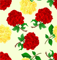 Seamless texture twig red and tea roses stem vector image vector image