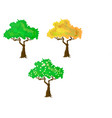 seasons collection of trees vector image vector image