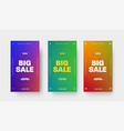 set color gradient banners with arrows and a vector image vector image
