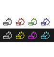 set fast payments icon isolated on black and white vector image vector image