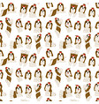 shih tzu in action seamless pattern vector image
