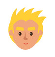 smiling blond man character face icon vector image vector image