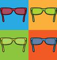 sunglasses lichtenstein pop art vector image vector image