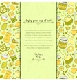 tea and sweets for template card vector image vector image
