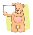 Teddy Bear sign vector image