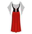 traditional oktoberfest dress for women vector image