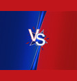 versus duel headline background with blue and red vector image